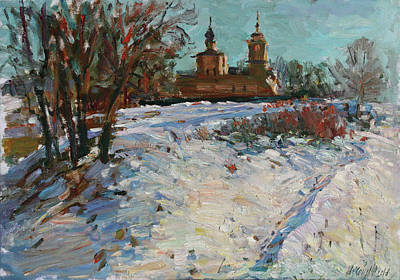 Painting - Evening The Trigorskoe by Juliya Zhukova