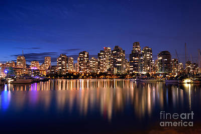 Photograph - Evening Time At False Creek by Terry Elniski