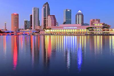 Photograph - Evening Time In Tampa by Frozen in Time Fine Art Photography