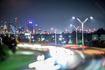 Photograph - Evening Traffic In San Antonio Texas by Alex Grichenko
