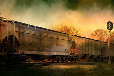 Evening Train Art Print by Theresa Campbell