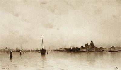 Evening Scenes Drawing - Evening,  Venice  By I Will, Pseudonym by Vintage Design Pics