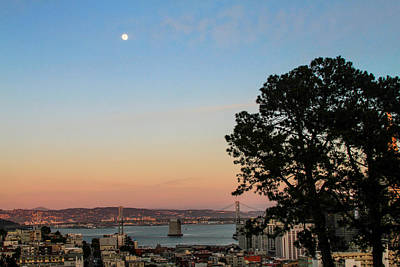 Photograph - Evening View From Russian Hill by Bonnie Follett