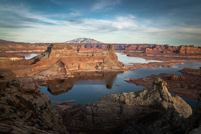 Evening View Of Lake Powell Art Print