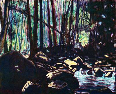 Drawing - Evening View Of Little Stony Creek by Kendall Kessler