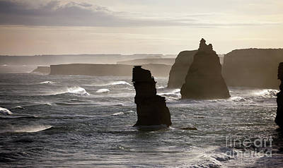 Photograph - Evening View Of The Twelve Apostles by John Gaffen