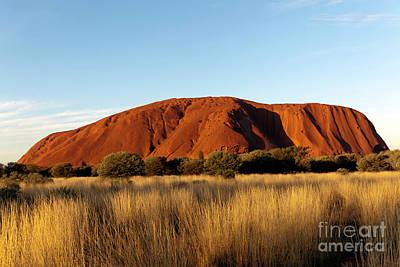 Photograph - Evening view of Uluru by John Gaffen
