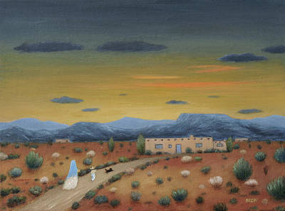 Arizona Artists Painting - Evening Visitors by Gordon Beck