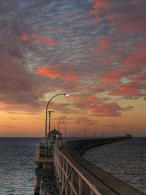 Busselton Photograph - Evening Walk Along The Jetty by Gerry McAteer