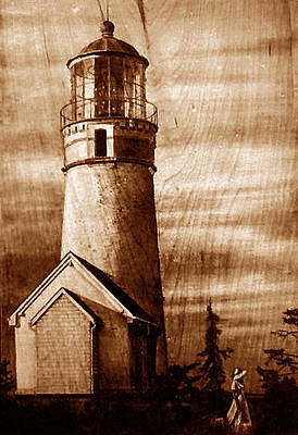 Custom Reproductions Pyrography - Evening Walk At Cape Blanco by Dino Muradian