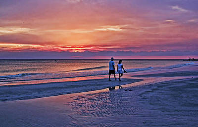 Photograph - Evening Walk by HH Photography of Florida