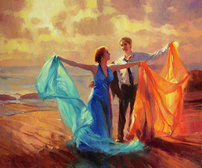 Vintage Diner Cars - Evening Waltz by Steve Henderson