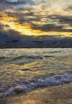 Photograph - Evening Waves by Ron Grafe