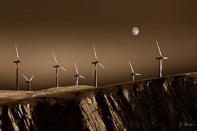 Photograph - Evening Wind Power by Joe Bonita