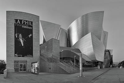 Photograph - Evening With Gustavo - Walt Disney Concert Hall - Black And White Rendition by Ram Vasudev