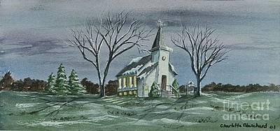 Evening Worship In Winter Original by Charlotte Blanchard