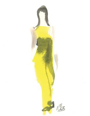 Evening Yellow Gown Art Print