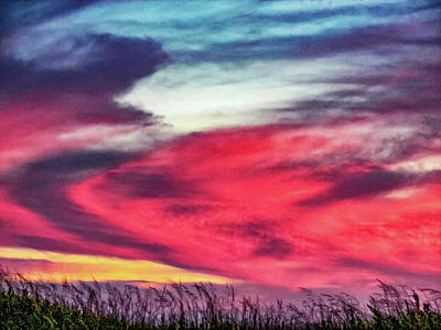 Sauble Beach Sunset Photograph - Evening's Palette 3 by Steve Harrington