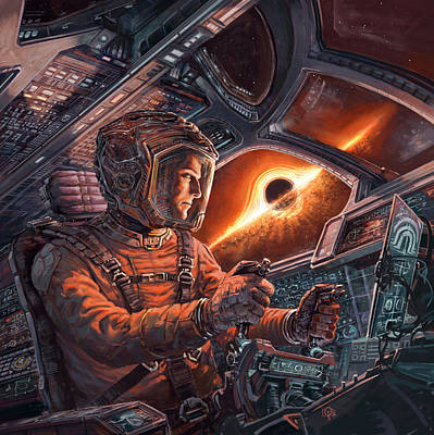 Painting - Event Horizon by Odysseas Stamoglou