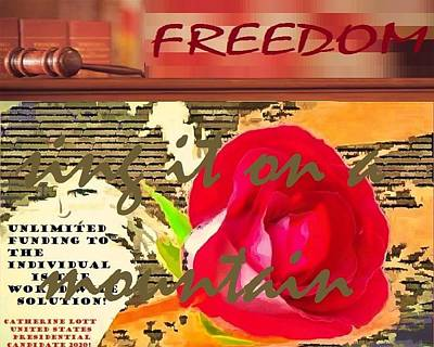 Painting - Event Lifetime Freedom by Catherine Lott