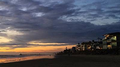 Photograph - Eventide, Oceanside, California by Jan Cipolla