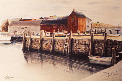 Motif 1 Painting - Ever Been To Rockport? by Maryann Boysen