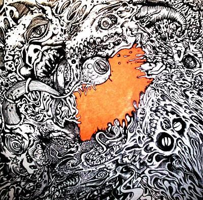 Ever Decreasing Madness Art Print by Sam Hane
