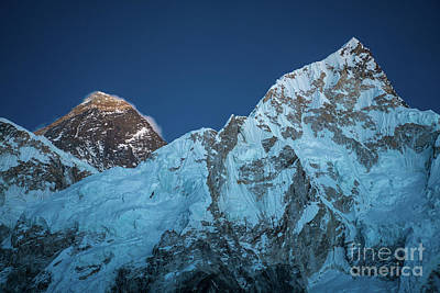 Photograph - Everest And Lhotse Peaks by Mike Reid