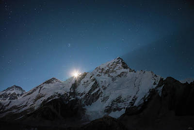 Photograph - Everest Supermoon by Owen Weber
