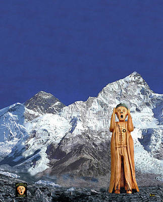 Mixed Media - Everest The Scream World Tour  by Eric Kempson