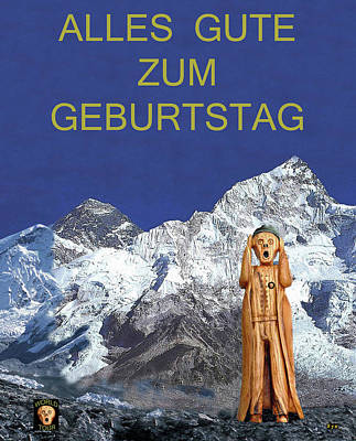 Mixed Media - Everest The Scream World Tour German by Eric Kempson