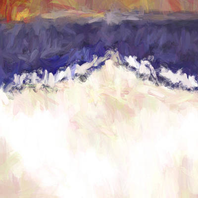 Mountain Sunset Mixed Media - Everest by Tonya Doughty