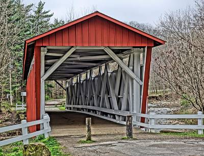 Photograph - Everett Covered Bridge by Dan Sproul