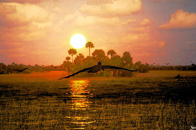 Painting - Everglades Dawn by David Lee Thompson