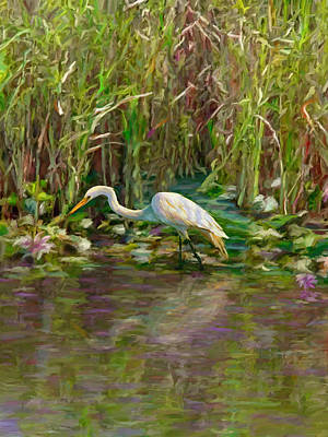 Painting - Everglades Hunter by David  Van Hulst