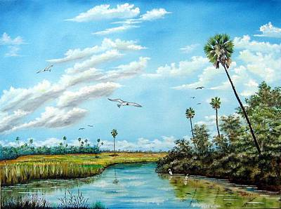 Everglades Inlet Art Print by Riley Geddings