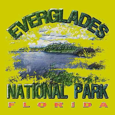 Everglades Digital Art - Everglades National Park by David G Paul