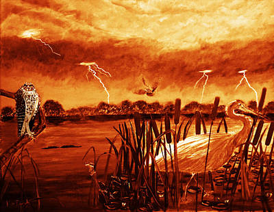 Everglades Sepia Tone Art Print