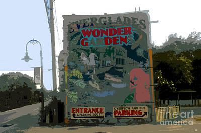 Tourist Attraction Digital Art - Everglades Wonder Gardens by David Lee Thompson