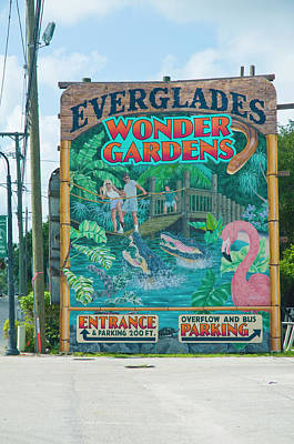 Photograph - Everglades Wonder Gardens Original by Ginger Wakem