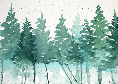 Painting - Evergreen Abstract by Rebecca Davis