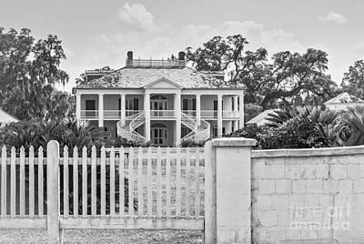 Photograph - Evergreen Plantation-greek Revival  by Kathleen K Parker