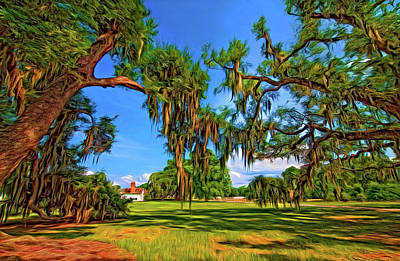 Evergreen Plantation - Paint Art Print by Steve Harrington