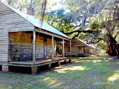 Photograph - Evergreen Sugar Cane Plantation Slave Cabin Quarters In Wallace Louisiana by Michael Hoard