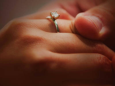 Anniversary Ring Photograph - Everlasting Bond by Venura Herath