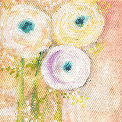 Romantic Art Mixed Media - Everlasting- Expressionist Floral Painting by Linda Woods