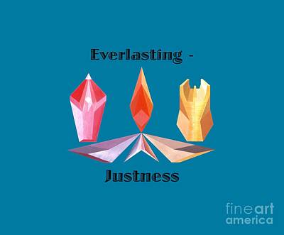 Painting - Everlasting-justness Text by Michael Bellon