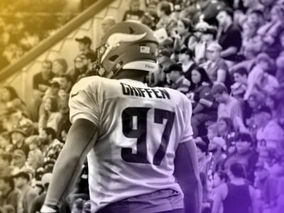 Photograph - Everson Griffen Purple And Gold by Kyle West