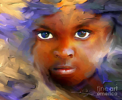 African Child Painting - Every Child by Bob Salo