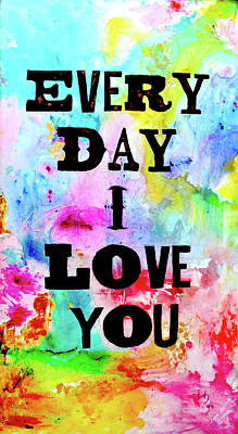 Surrealistic Painting - Every Day I Love You by Ivan Guaderrama